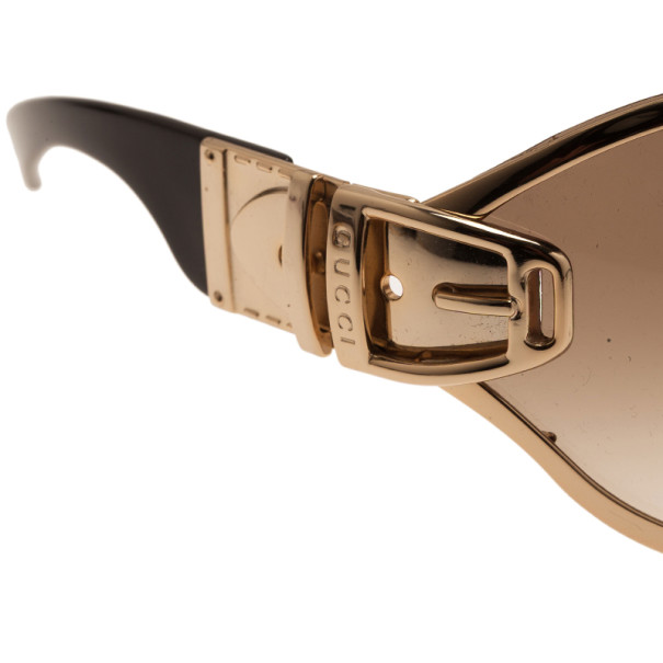 Gucci Brown 2738 Buckle Detail Sunglasses