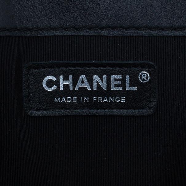 Chanel Black Patent Leather Boy Reverso Jumbo Flap Bag