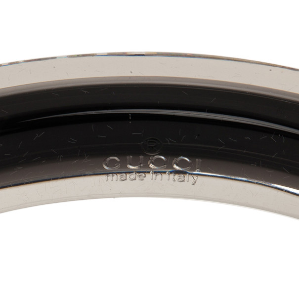 Gucci Metal and Plexiglass Brown Thin Bangle 18.5
