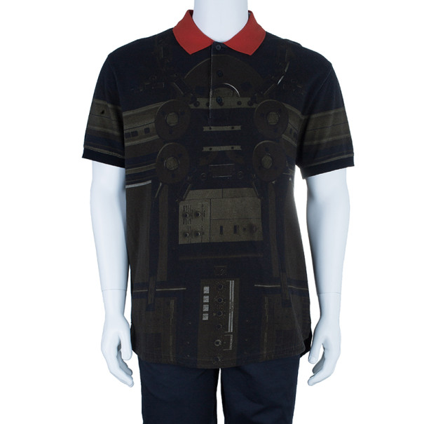 Givenchy Circuit Print Short Sleeve Men's Polo Shirt M