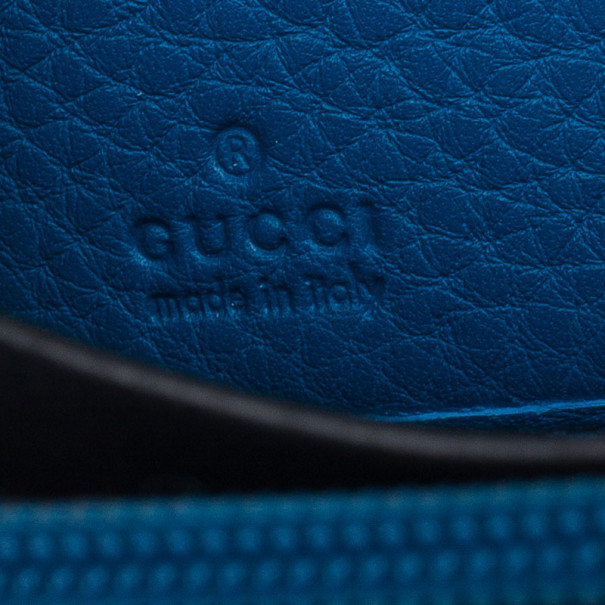 Gucci Blue Leather Soho Continental Wallet