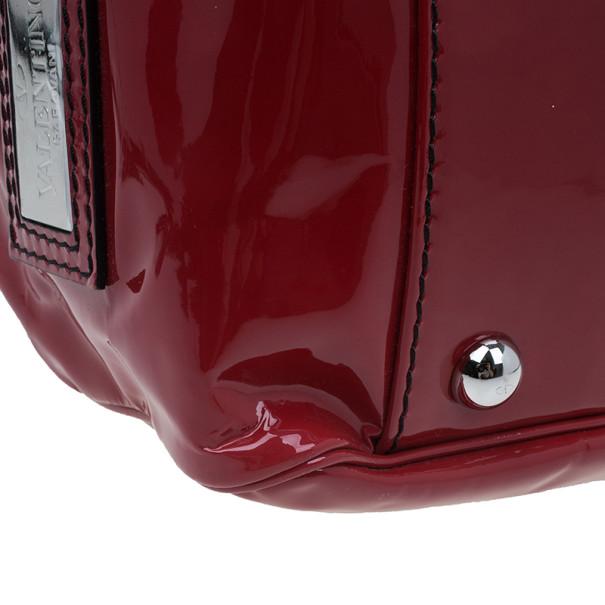 Valentino Red Patent Histoire Framed Bag