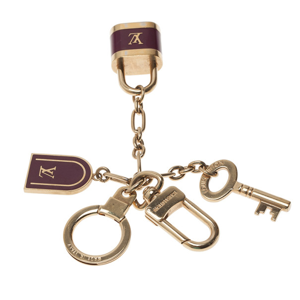 Louis Vuitton Purple Cadenas Bag Charm