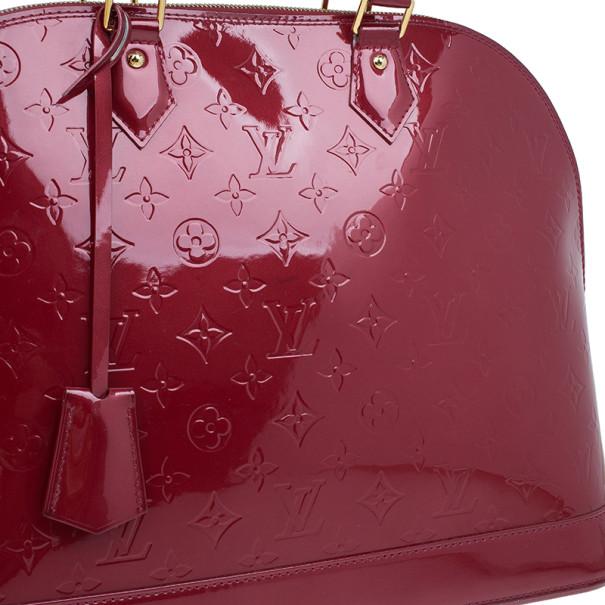 Louis Vuitton Red Vernis Alma GM