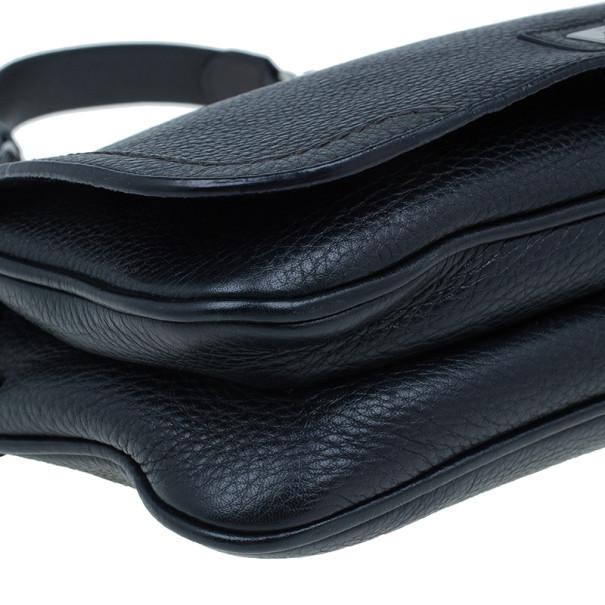 Salvatore Ferragamo Black Ganni Leather Crossbody