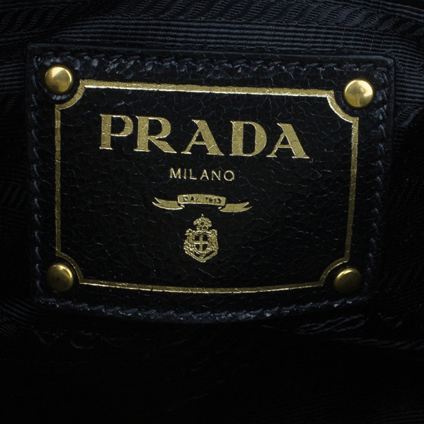 Prada Craquele Studded Clutch