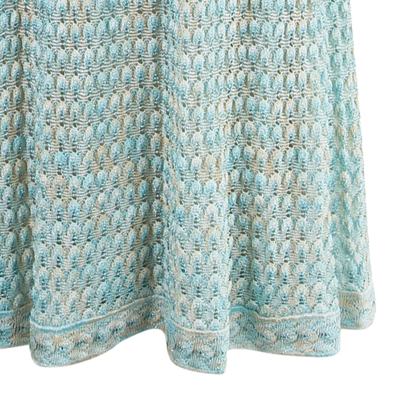 Missoni Aqua Embellished Maxi Dress S