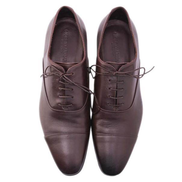 Giorgio Armani Brown Leather Oxfords Size 44.5
