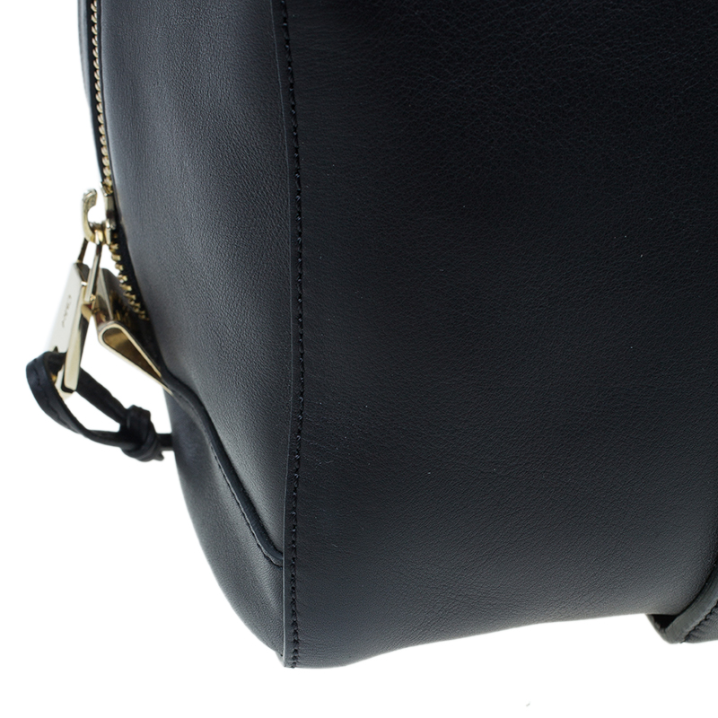 Chloe Black Leather Madeleine Bowling Bag