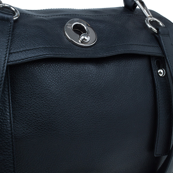 Saint Laurent Paris Black  Leather Muse Two Small Tote