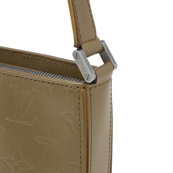 Louis Vuitton Bronze Leather Vernis Pochette