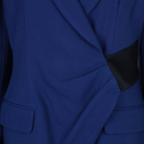 Prabal Gurung Navy Tuxedo Wrap Jacket L