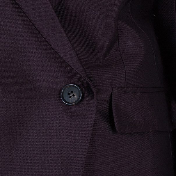 Chalayan Burgundy Sculpted Amaranth Jacket S