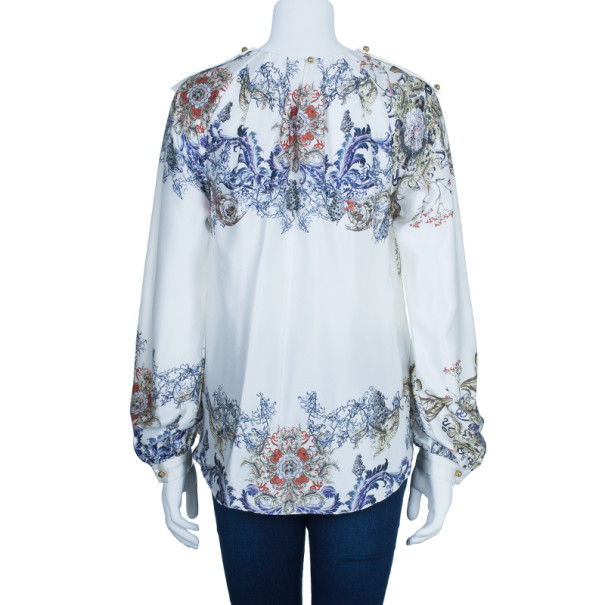 Prabal Gurung Silk Printed Top M