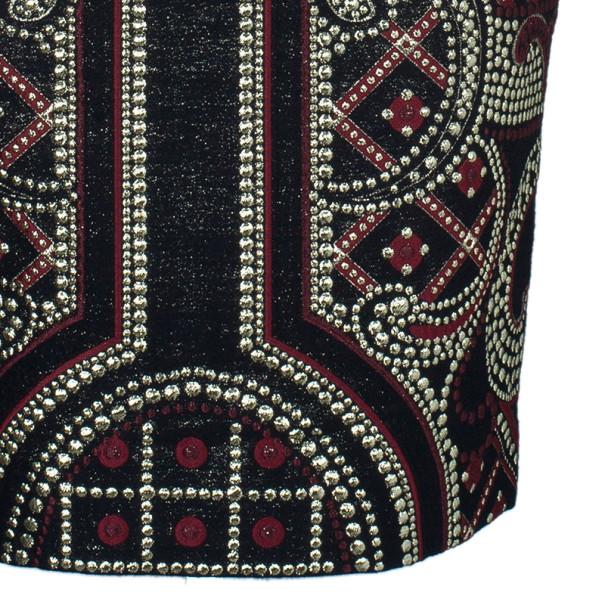 Prabal Gurung Metallic Detail Embroidery Pencil Skirt US 8