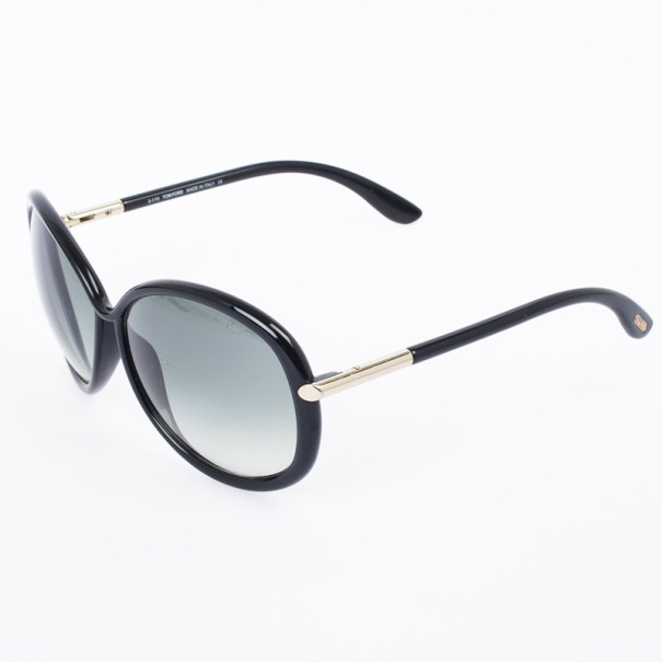 Tom Ford Black Clothilde Round Women Sunglasses