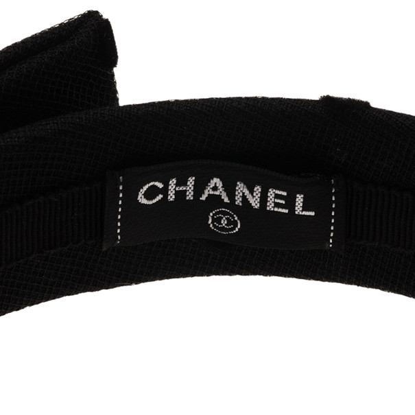 Chanel CC Black Bow Headband