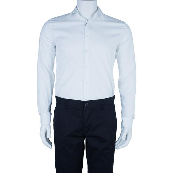 Burberry White Tailored Fit Men's Shirt EU38