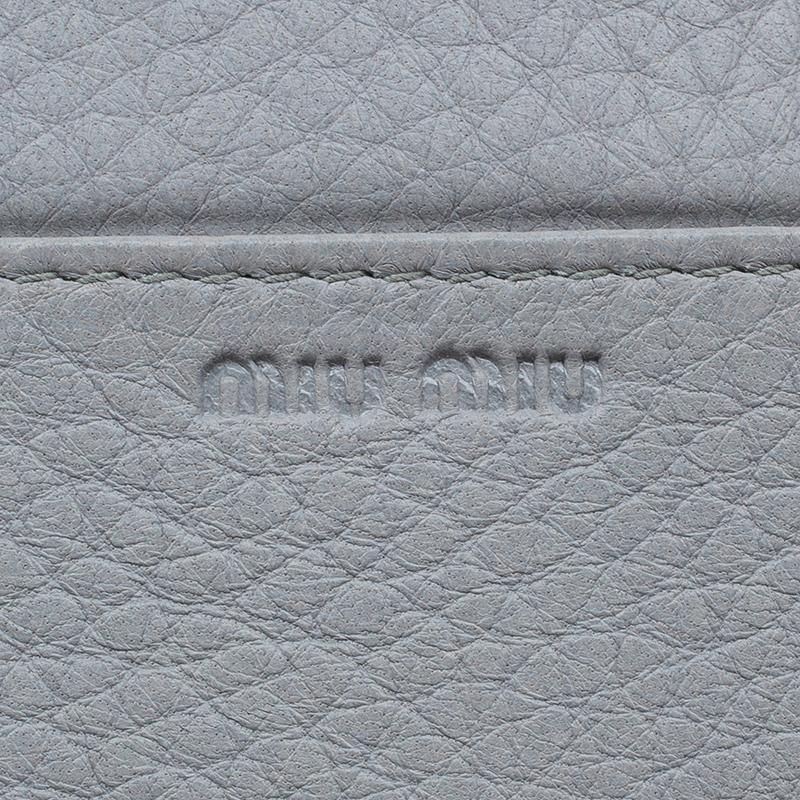 Miu Miu Grey Leather Continental Wallet