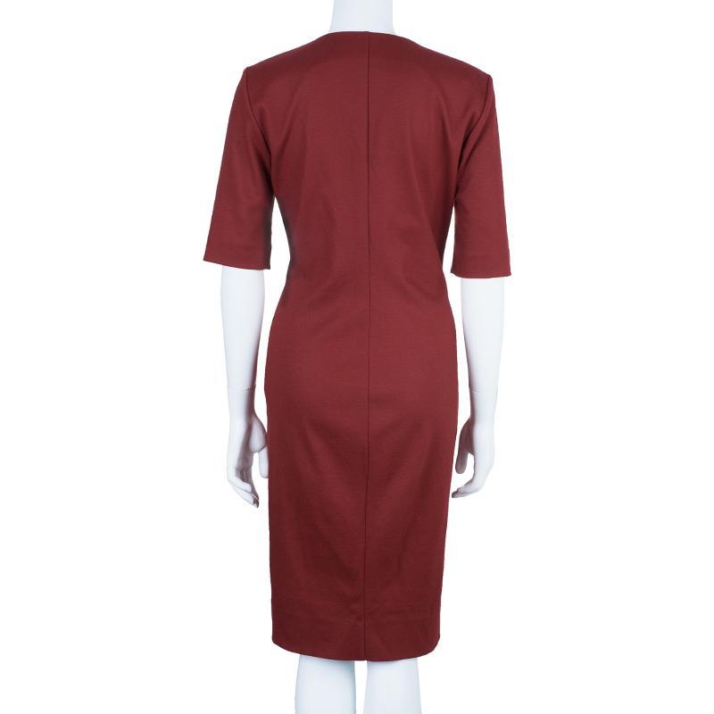 Diane Von Furstenberg Aurora Wool Sheath Dress L