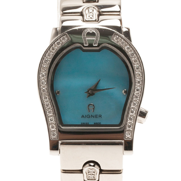 Aigner Mother of Pearl Stainless Steel Verona A01200 Women's Watch 24MM