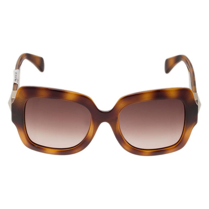 Valentino Tortoise Frame V714S Superstud Square Sunglasses