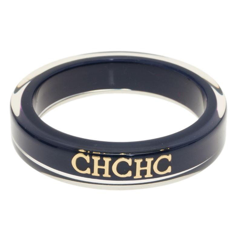 Carolina Herrera CH Blue Resin Bangle Bracelet