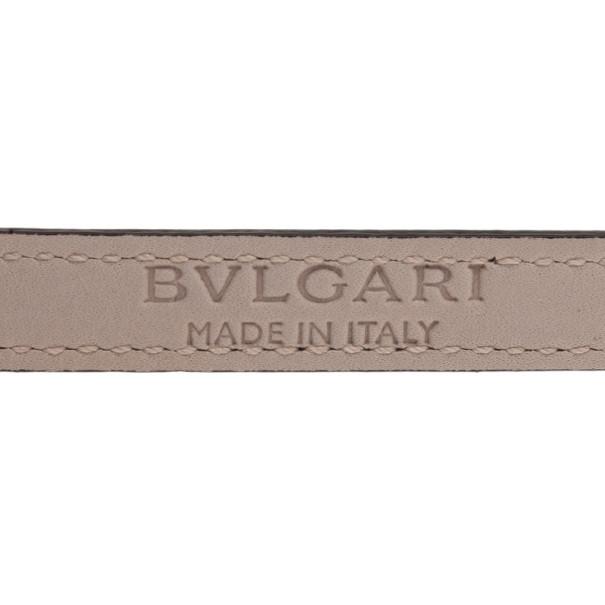 Bvlgari Serpenti Double Coiled Purple Leather Bracelet M
