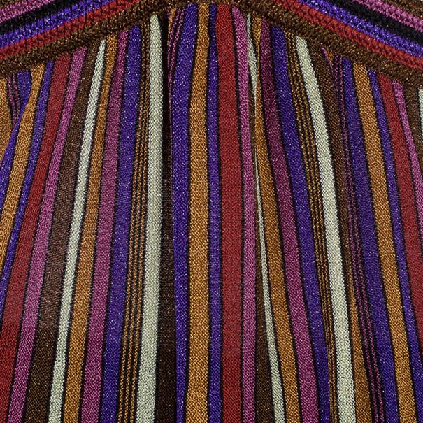 M Missoni Multicolor Stripe Print Top M
