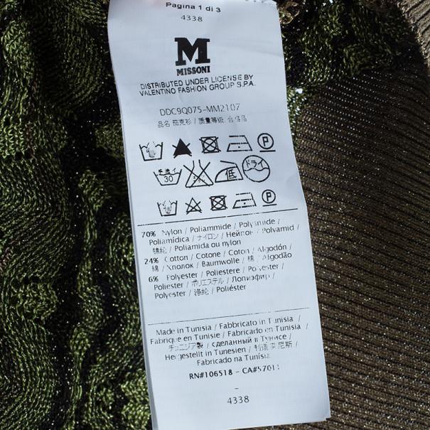 M Missoni Button Down Knit Patterned Cardigan M