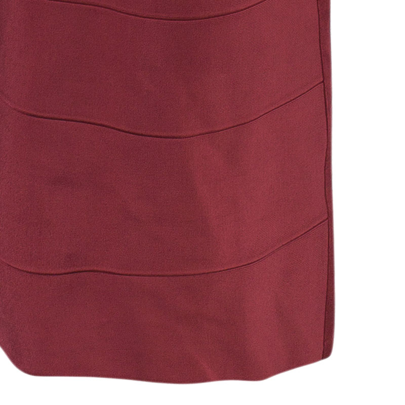 Herve Leger Juliette Long Bandage Gown S