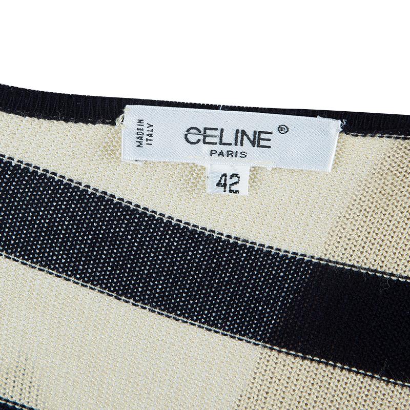 Celine Monochrome Knit Stripe Top L