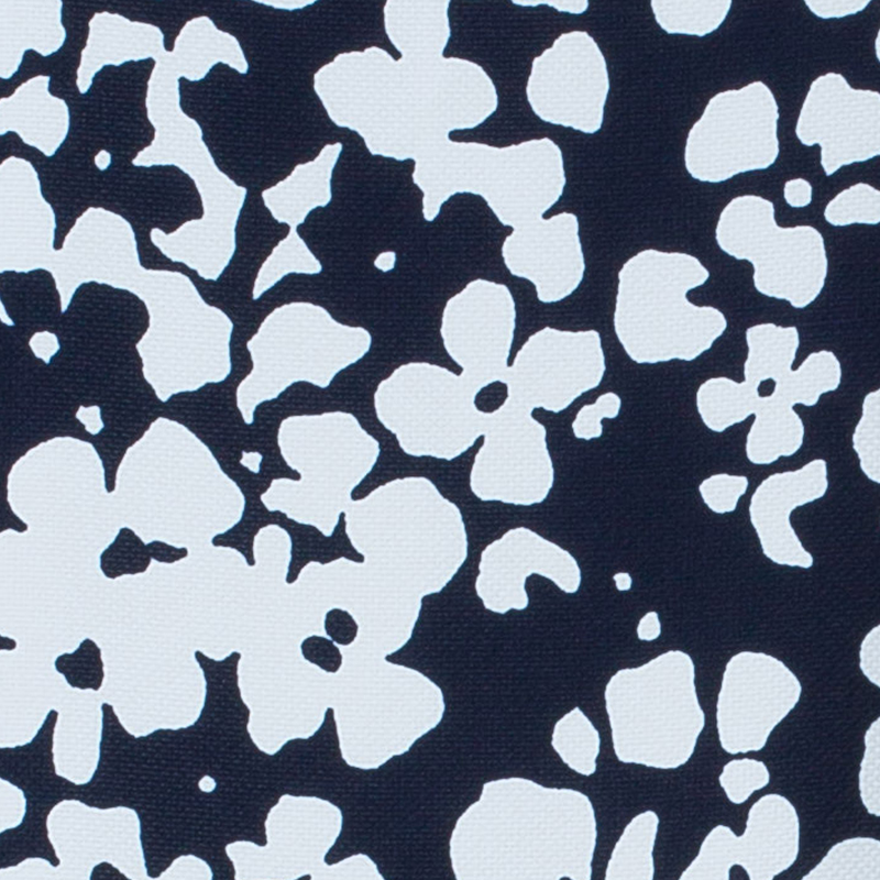 CH Carolina Herrera Navy and White Floral Print Square Top M