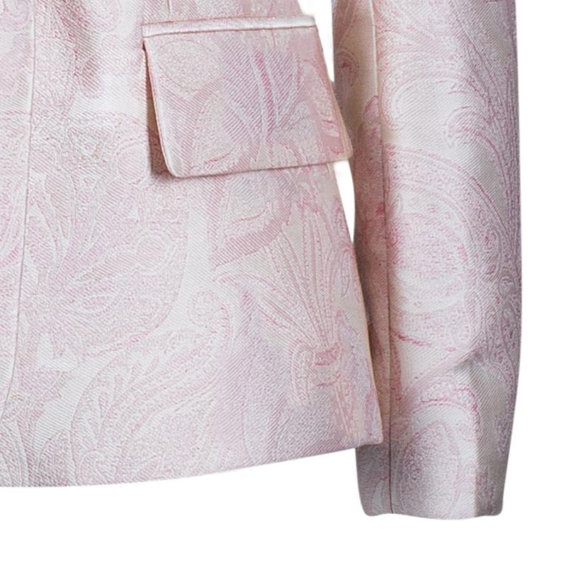 Stella McCartney Pink Brocade Blazer S
