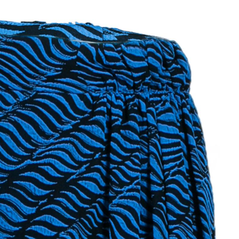 Kenzo Brush Stroke Silk Skirt M