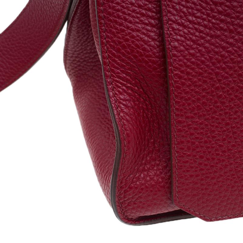 Hermes Red Clemence Taurillon Jypsiere Messenger 34CM Bag