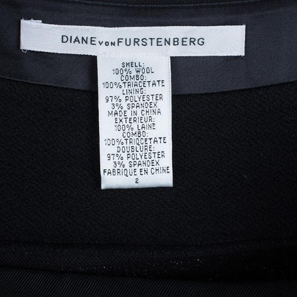 Diane von Furstenberg Black Stitches Bandage Dress S