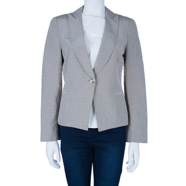 Giorgio Armani Single Breasted Textured Jacket M