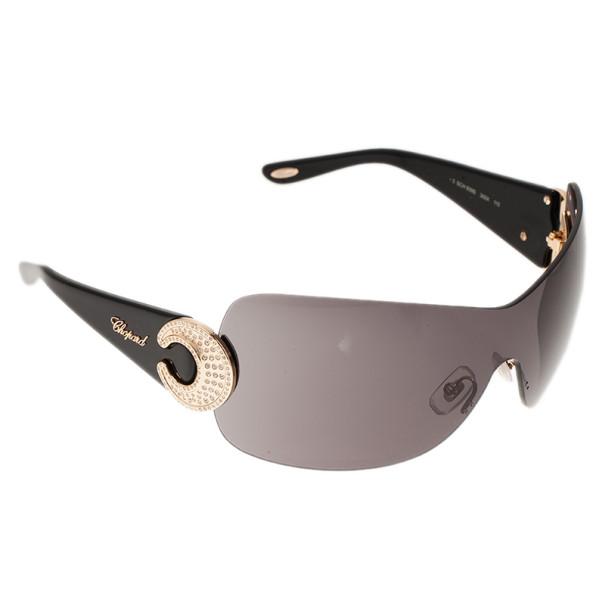 Chopard Black SCH939S Shield Sunglasses
