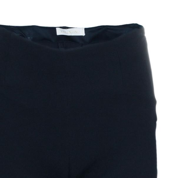 Valentino Black Ruffle Short Long Hem Pants M