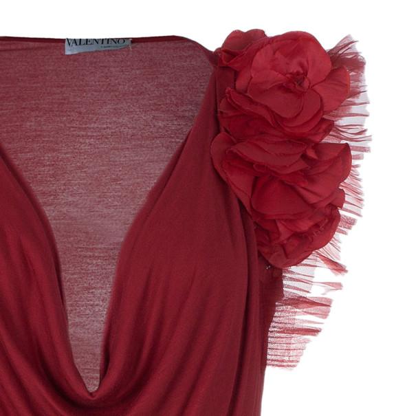 Valentino Floral Embellished Shoulder Top M