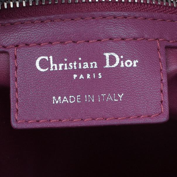 Dior Pink Lambskin Cannage Overstitching Chri Chri Tote