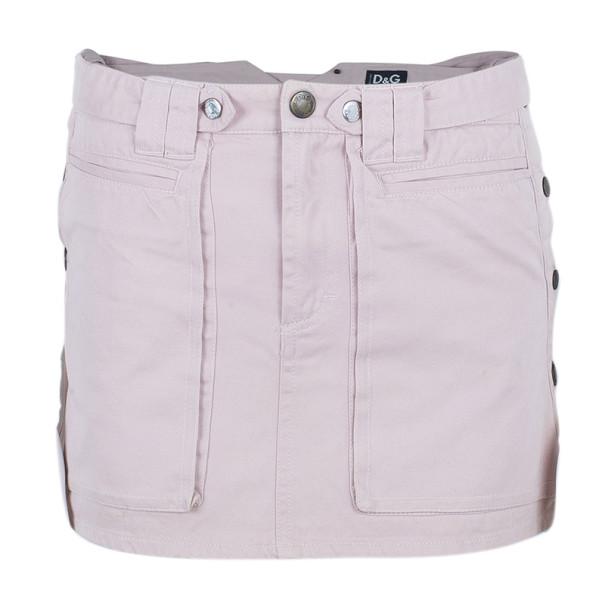 D and G Pink Denim Mini Skirt S