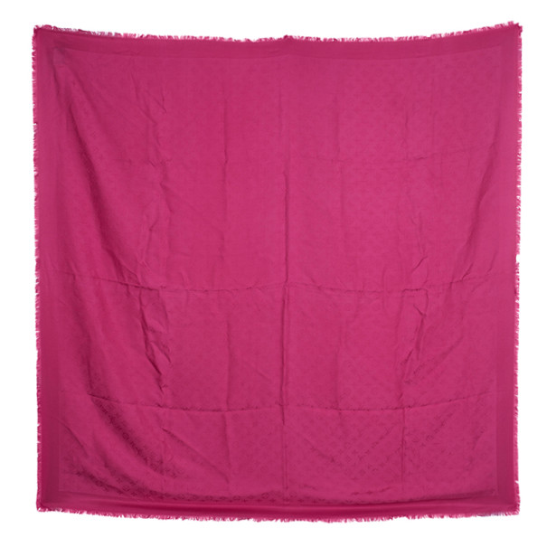 Louis Vuitton Pink Monogram Butterfly Square Scarf