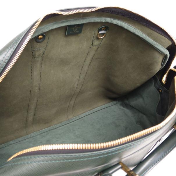 Louis Vuitton Black Leather Kendall Boston Bag