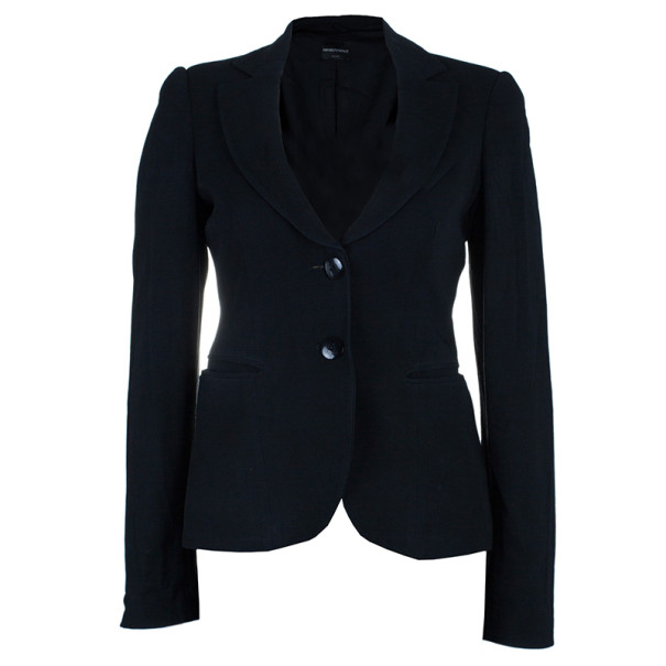 Emporio Armani Classic Single Breasted Black Blazer