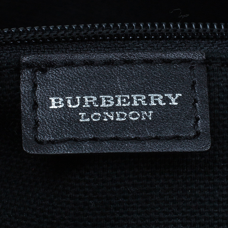Burberry Black Small Nova Check Hobo