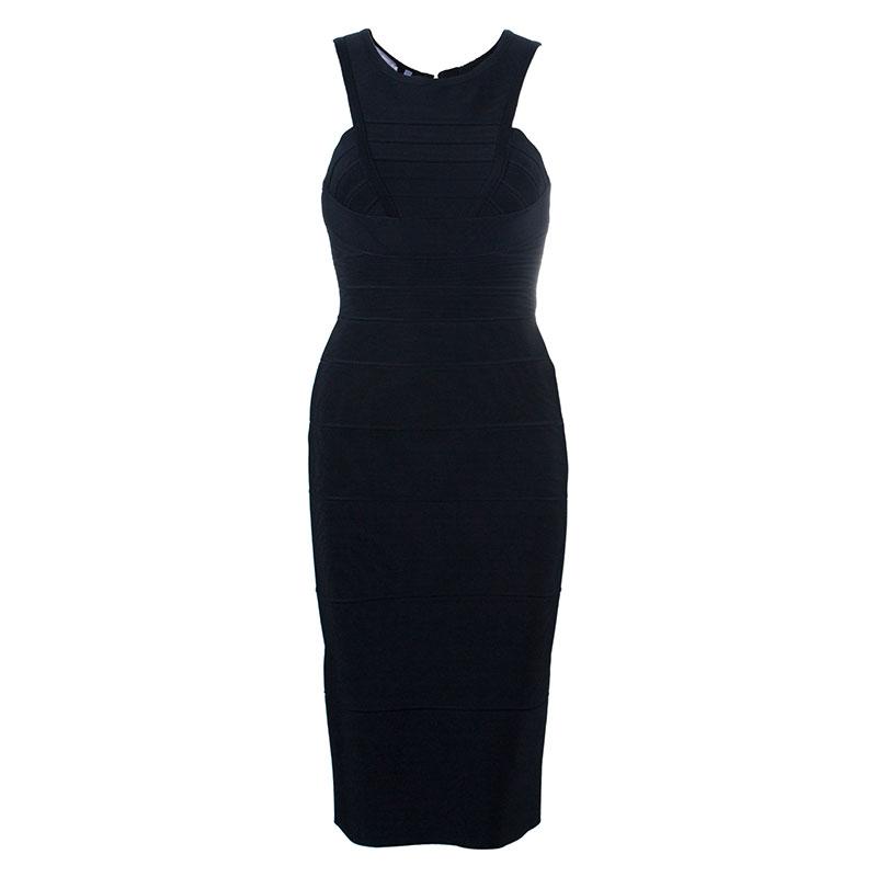 Herve Leger Black Bandage Dress XS