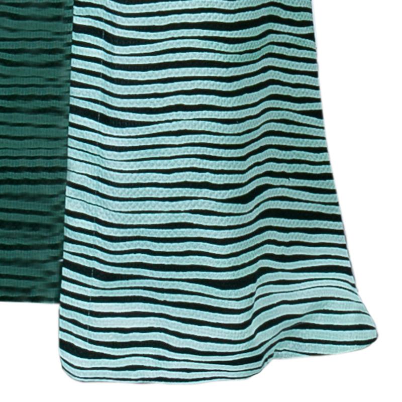 Kenzo Brush Striped Silk Maxi Dress M