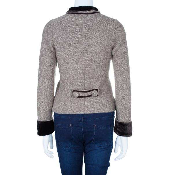 Emporio Armani Off-White Wool Button Down Jacket M